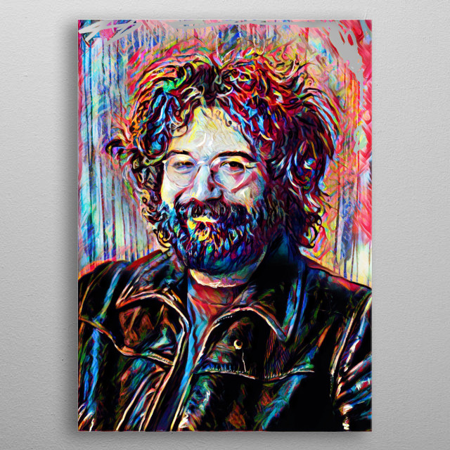 EYES OF THE WORLD!! I created this piece with a mixed-medium process, painted to reflect the music of the Grateful Dead. metal poster