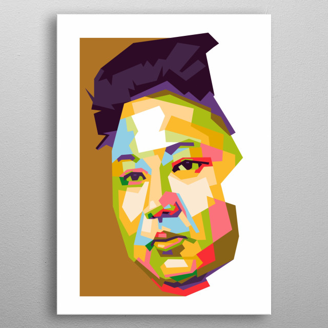 Portrait of Kim Jong-un. North Korean leader, Commander of the North Korea People's Army. Vector Popart portrait ( wpap ) illustration metal poster
