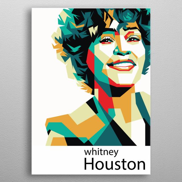 Whitney Houston in WPAP Pop Art metal poster