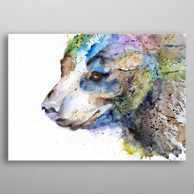 Watercolor painting by liubov Kuptsova metal poster