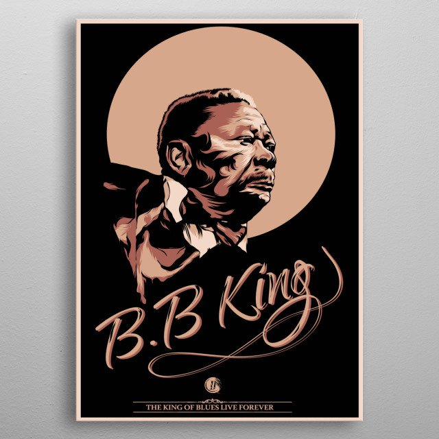 the legendary king of blues metal poster
