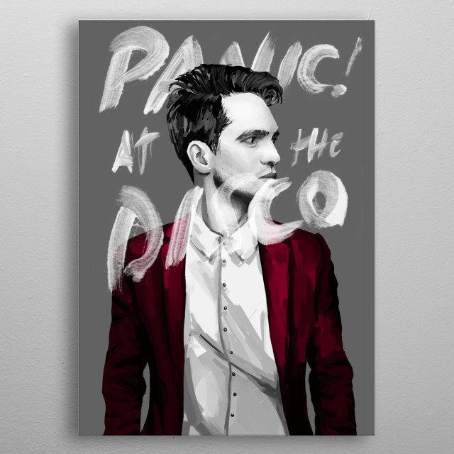 Inspired by Brendon Urie, from Panic! At The Disco metal poster