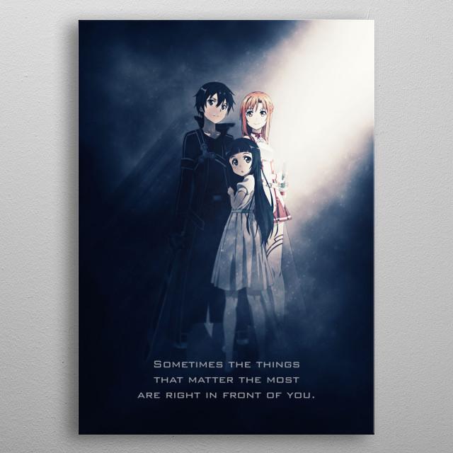 Sword Art Online Family Tagline metal poster