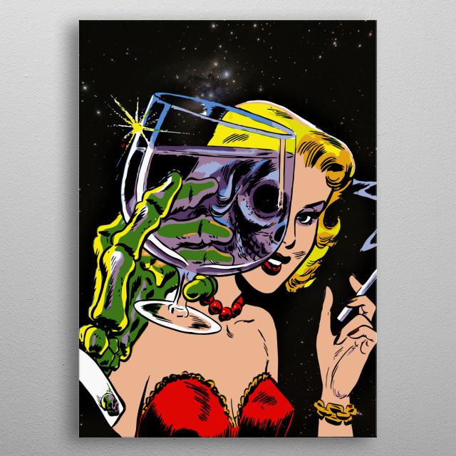 Vintage Comic Creepy Horror Pop Art Zombie Spirit metal poster