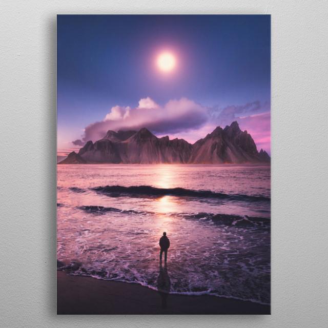 Moon Lover metal poster