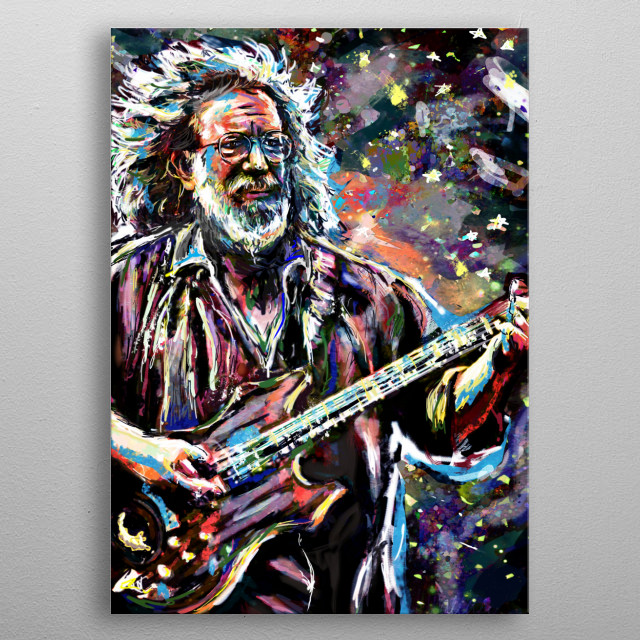 TOUCH OF GREY!! I created this piece with a mixed-medium process, painted with various stroke styles to reflect the music. metal poster