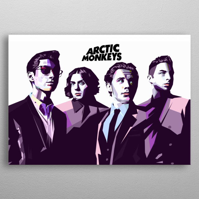 Arctic Monkeys are an English rock band formed in 2002 in High Green, a suburb of Sheffield. metal poster