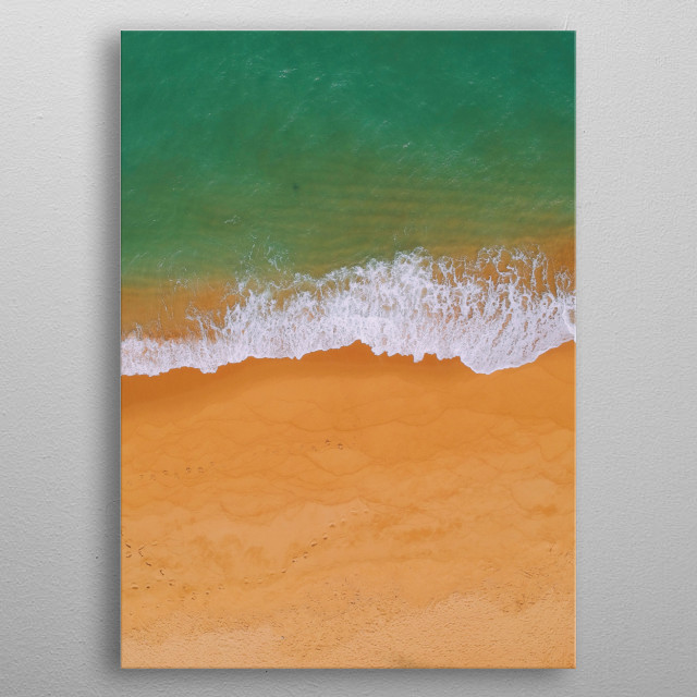 One of the most beautiful beach at my hometown, Terengganu, Malaysia.  metal poster