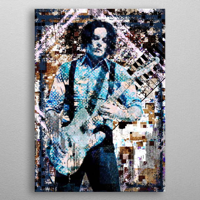LAZARETTO!! I created this piece with a mixed-medium process, painted with various stroke styles to reflect the music. metal poster