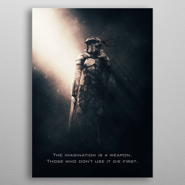 Goblin Slayer tagline metal poster