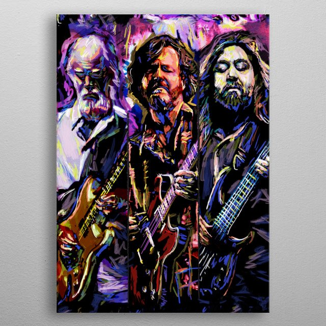 TRAVELIN' LIGHT!! I created this piece with a mixed-medium process, painted with various stroke styles to reflect the music. metal poster
