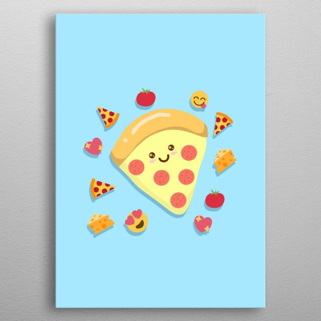Mmm who wants pizza? <3 metal poster