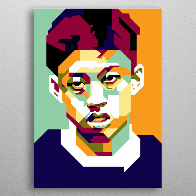 Rich Brian is a rapper from Indonesia metal poster