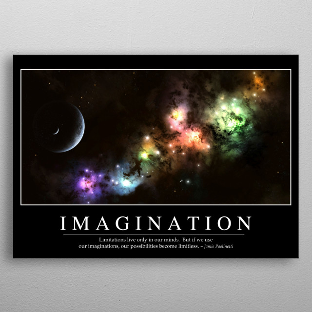 Imagination: Inspirational Quote and Motivational Poster metal poster