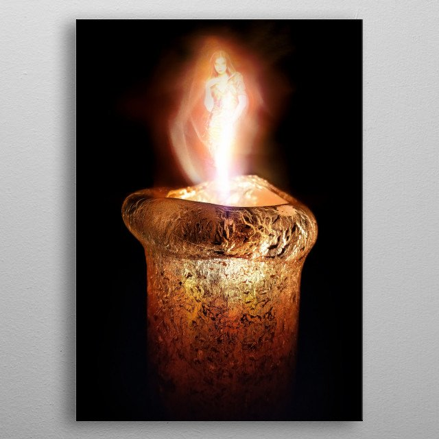 Evocation of Love in a candle's flame... metal poster