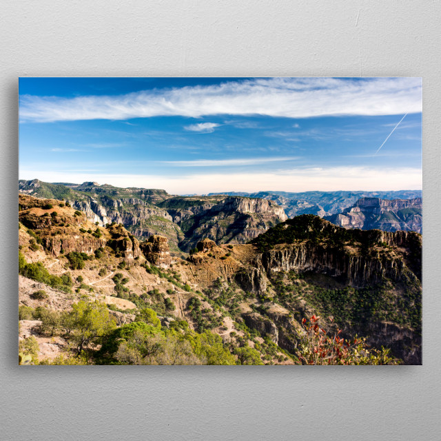 The view of the majestic Copper Canyon in Chihuahua Mexico metal poster
