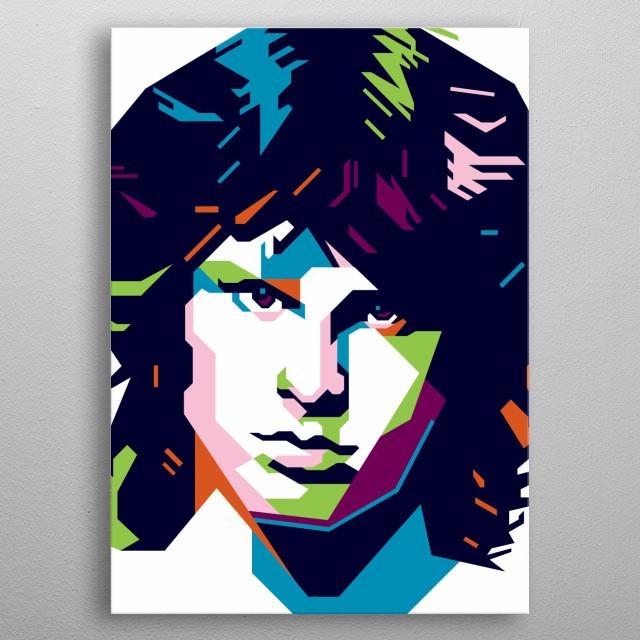 "James Douglas ""Jim"" Morrison (December 8, 1943 – July 3, 1971) was an American singer, songwriter and poet                                   metal poster"