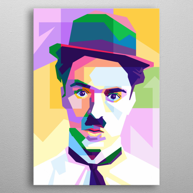 Charlie Chaplin. He is famous as a world comedian. Charlie Chaplin was born on April 16, 1889 on East Street,  metal poster