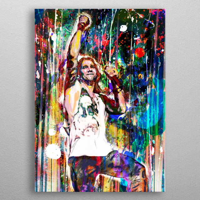 ANASTASIA!! I created this piece with a mixed-medium process, painted with various stroke styles to reflect the music. metal poster