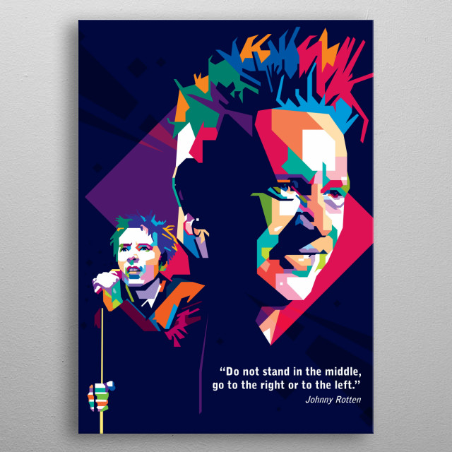 John Joseph Lydon (born 31 January 1956), also known by his stage name Johnny Rotten, is an English singer, songwriter and musician          metal poster