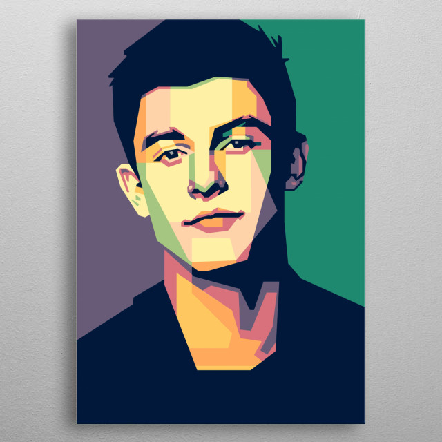 WPAP of Shawn Mendes metal poster