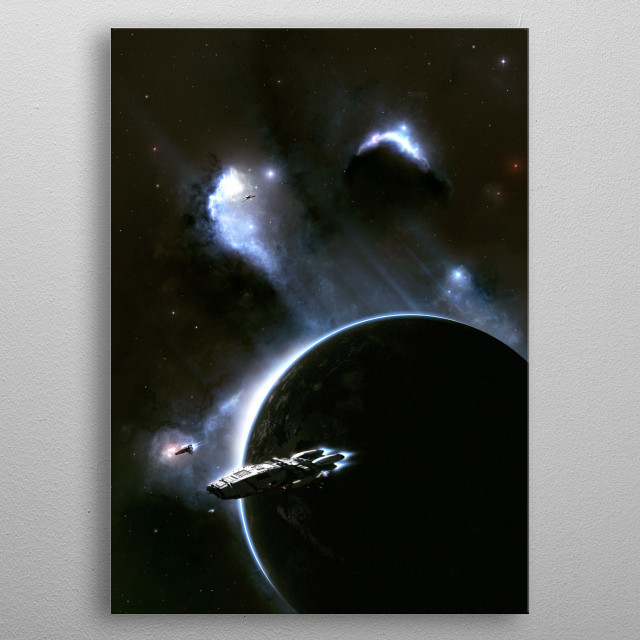 Another homage to a classic series in my Space Cruisin' collection  metal poster