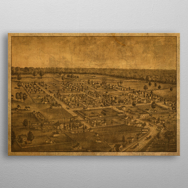 Logan County Ohio Map 1875 By Design Turnpike Metal Posters