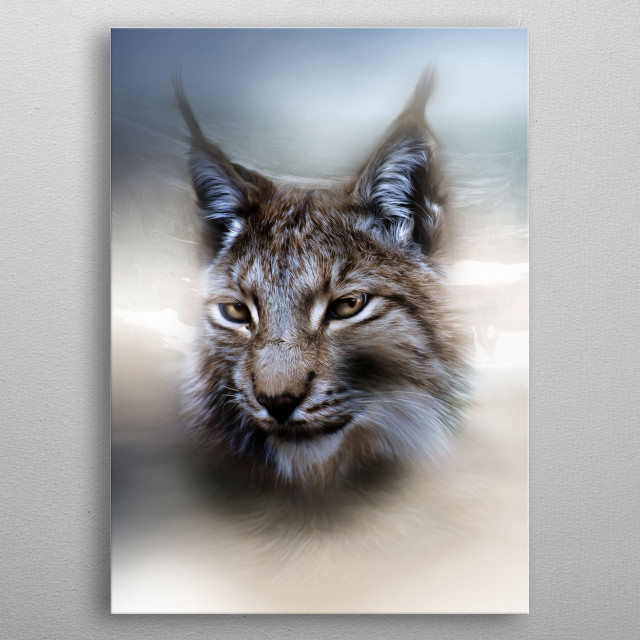 Lynx, totem animal of clairvoyance and dreamwork. metal poster