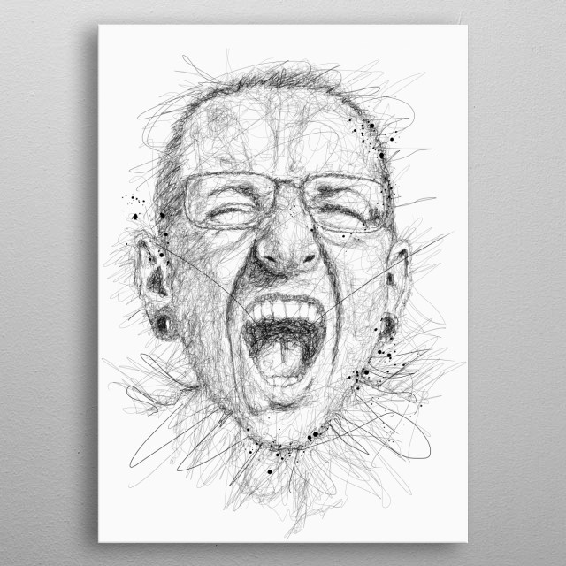Chester Bennington is American musician and songwriter best known as the vocalist of rock group Linkin Park metal poster