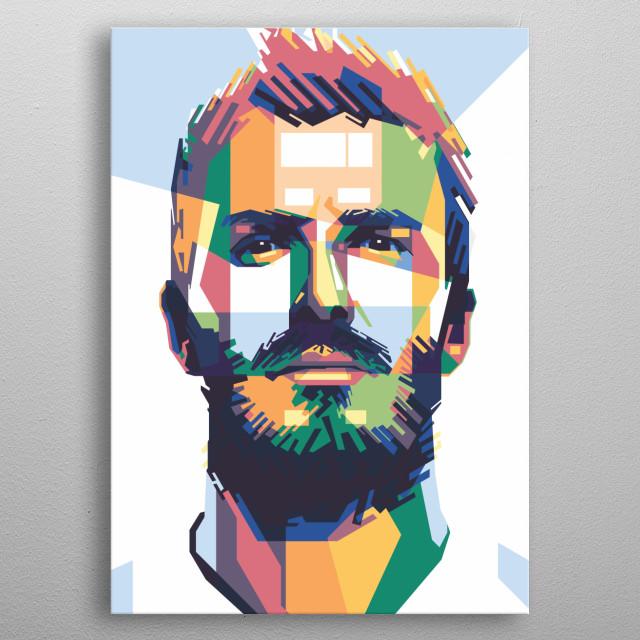 WPAP of David Beckham metal poster