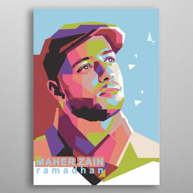 Maher Zain is a Swedish R&B singer, songwriter and music producer of Lebanese origin. And I have made a pop art style in his portrait metal poster