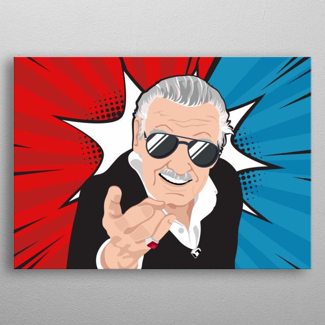 Stan Lee hero tribute metal poster