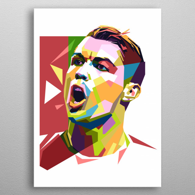 The best soccer player in the world today. Juventus players and Portugal national team. metal poster