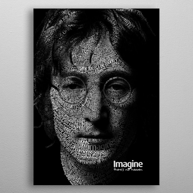 Imagine there's no heaven metal poster