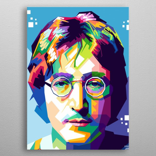 John Winston Ono Lennon MBE (9 October 1940 – 8 December 1980) was an English singer, songwriter, and peace activist who co-founded the Bea... metal poster