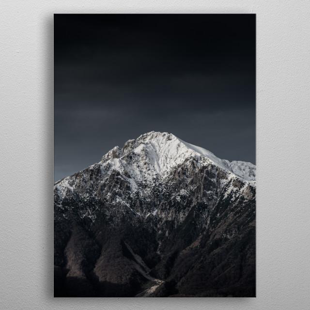 Dark Mountain Rise metal poster