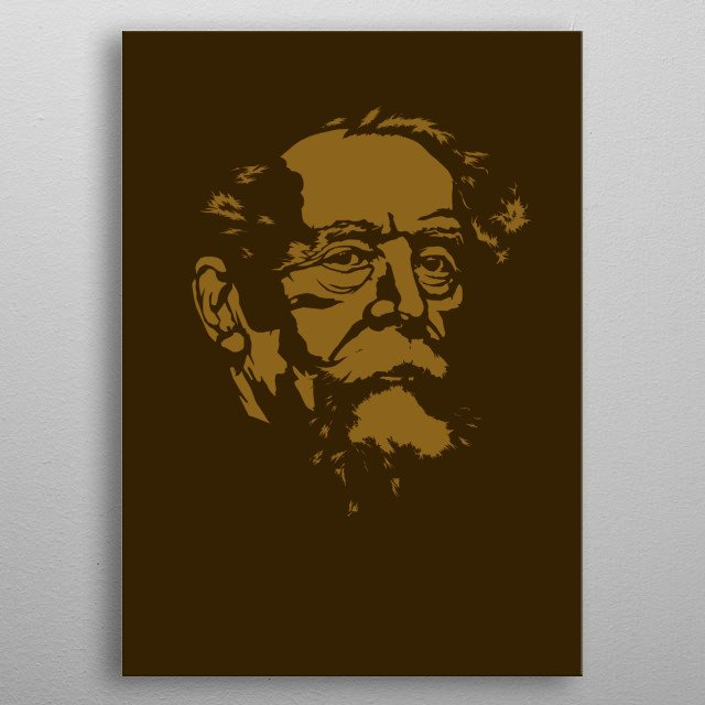 The great literary genius, novelist and scholar, Charles Dickens. metal poster