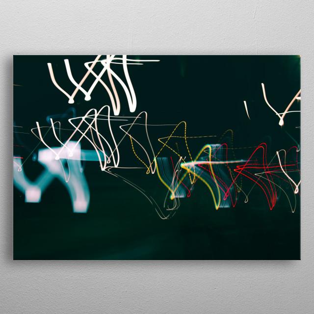Light Art Photography, Inconsistent pattern o dancing stars metal poster
