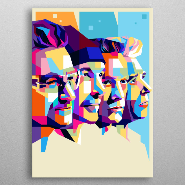 U2 is a popular music group from Ireland, an amazing illustration with modern pop art styles. metal poster