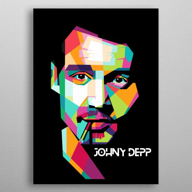 Illustration of Johny Depp in WPAP.  metal poster