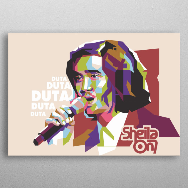 Duta is the vocalist of Indonesian band, Sheila on 7. And i have made his portrait be pop art. its style named WPAP. metal poster