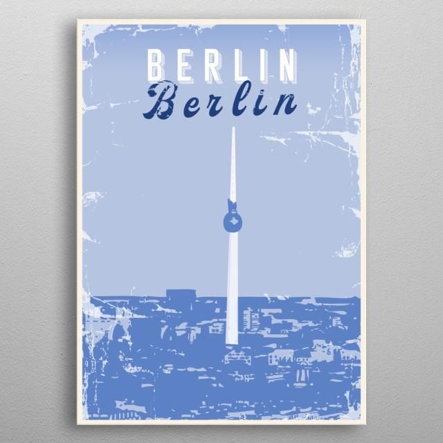 Vintage poster presenting Berlin metal poster