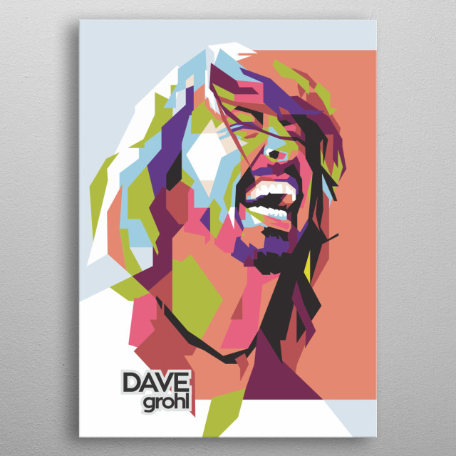 the illustration of dave gorhl is the WPAP art style. He is an American musician, singer, songwriter, record producer, multi-instrumentalist metal poster