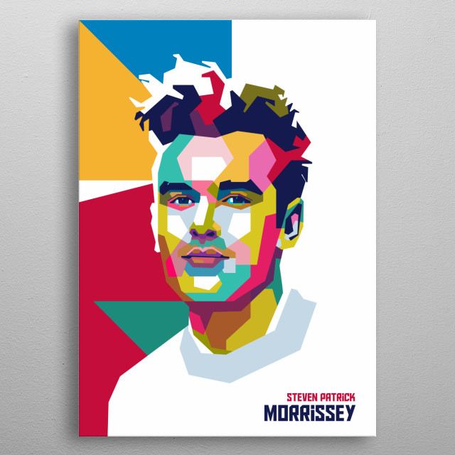Steven Patrick Morrissey is an English singer, songwriter and frontman of the Smiths, a rock band active from 1982 to 1987. metal poster