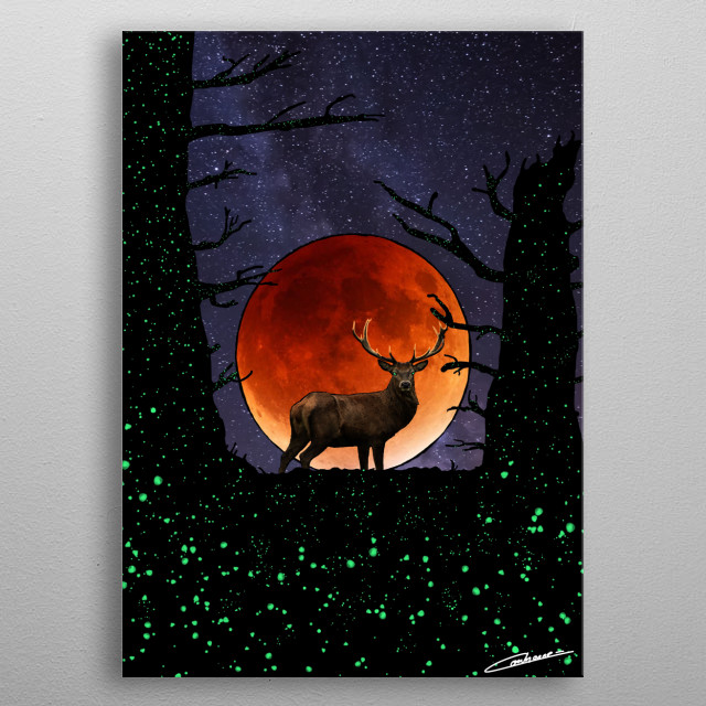 Feel the power of this unique animal, protector and spirit of the Forest! metal poster