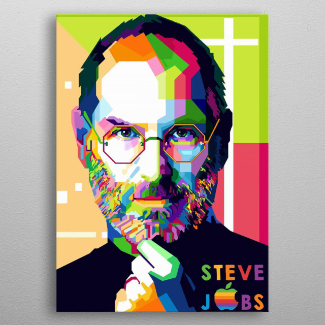 Steven Paul Jobs was an American business magnate and investor. He was the chairman, chief executive officer (CEO), and co-founder of Apple metal poster