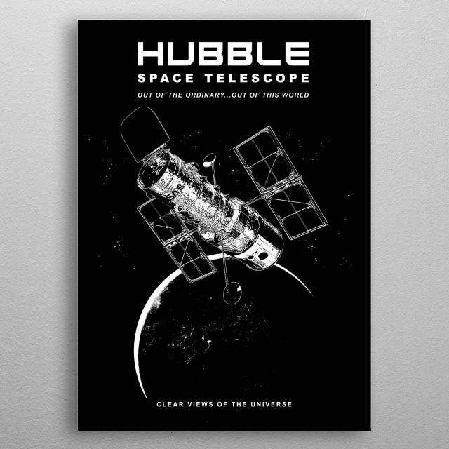Hubble Space Telescope metal poster