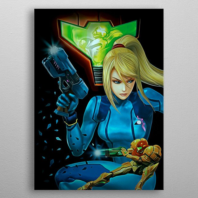 21 | Double Metroid  metal poster