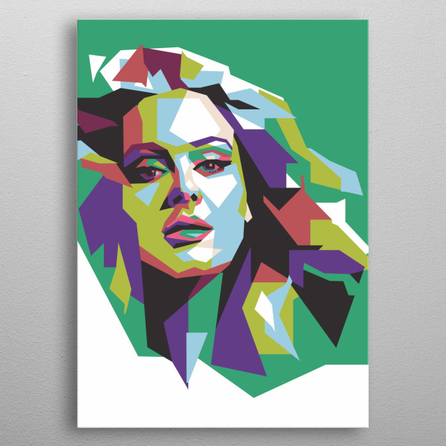 Adele in WPAP make her more beautiful. She is an English singer and songwriter. After graduating from the BRIT School for Performing Arts metal poster