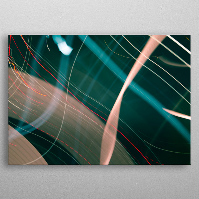 Light Art Photography Inside The Swirl metal poster